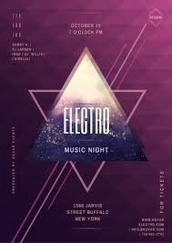 Electro Music Night Event Poster