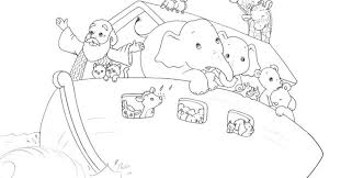 Coloring Pages Noah Ark Children