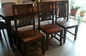 stühle 3 stück kolonialstil sheesham serie cuba