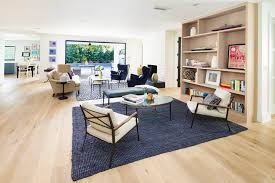 blue and yellow area rug living room modern with table l black