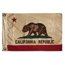 Vintage Bear Flag Small Republic Drawing California Clip Free