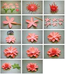 How Craft Work With Paper Flowers Step By To Make Diy Crepe