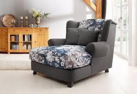 home affaire sessel oase ii mega sessel incl zierkissen seat tolle kombination aus uni stoff mit blumenmuster kaufen otto