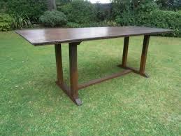 Antique Oak Dining Table Kitchen Heals 7ft Long