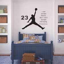 Inspirational Wall Sticker Quotes Basketball Vinyl Decals Mural Art Kids Children Room Home Decor