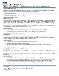 Police Officer Resume Examples From Ficer Cv Cover Letter