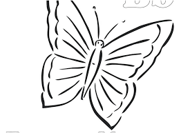 Printable Butterfly Coloring Pages Sheet Stock Free Download