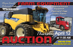 FARM EQUIPMENT AUCTION IN WAYNE COUNTY, INDIANA - Schrader Real ... Used Cars Fort Wayne In Trucks Best Deal Auto Ben Graber Schrader Real Estate Auction Of Virtual Surplus Equipment The Wendt Group Inc Land And Ritchie Bros Cordbreaking 278m Orlando Auction Wasnt Just Johnston Hiattknudsauctionscom Owner Name Withheld Personal Property Auction Allen County Indiana 2006 Intertional 9400i Semi Truck For Sale Sold At March Real Estate Crystal Johnson Moving