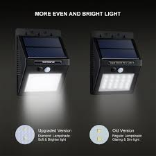 Amazon VicTsing 4Pcs 20 LED Solar Motion Sensor Lights