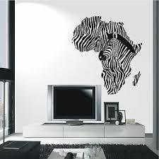 details zu wändwandtattoo zebra afrika kontinent deko wandaufkleber wohnzimmer motiv 551 xl