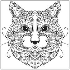 Color With Music Wild About Cats Adult Coloring Book Blank Page And Dogs For Adults Cat