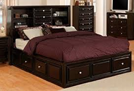 Amazon Yorkville Espresso Storage Bookcase Queen Platform Bed