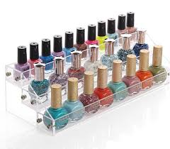 Acrylic Cosmetics Nail Enamel Display Box Showing Stand Rack Perfume Mini Bottle Collection Holder Storage In Holders Racks From Home