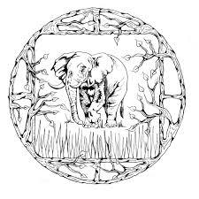 Dessin De Coloriage Mandalas Animaux à Imprimer CP17057