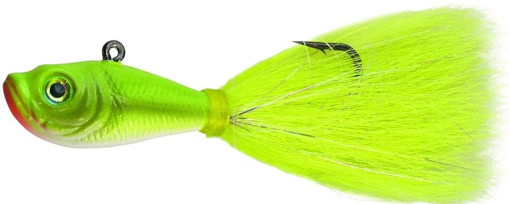 Spro Prime Bucktail Jig Fishing Lure - 4oz, Crazy Chartreuse