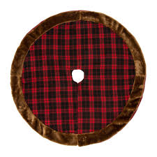 D Plaid Christmas Tree Skirt