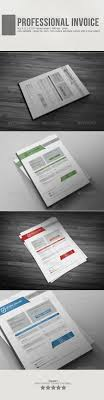 Professional Invoice Template Vol2 GraphicRiver O Creative With 4 Different Colors