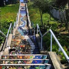 golden gate heights mosaic stairway scenic lookout in san francisco