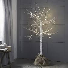 Silver Birch Tree With Hessian Base Pre Lit