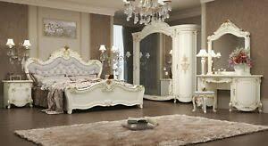 details zu klasisches schlafzimmer antonia in beige 7 teilig deluxe barock italienisch bett