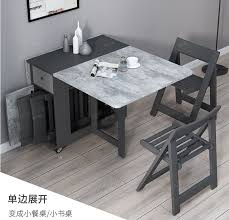 nordic klapptisch stuhl kombination moderne einfache kleine familie massivholz esszimmer stuhl mobile multi funktion