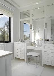double vanity make up vanity design paneled mirrors master