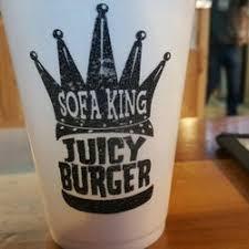 sofa king juicy burger chattanooga menu best burger 2017