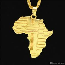 100 Where Is Dhgate Located Wholesale Mens Necklace Map Of Africa Hip Hop Jewelry With Iced Out