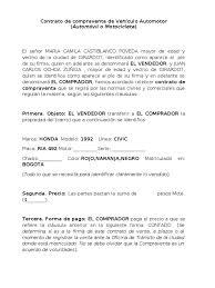 Descargar Modelo De Contrato De Compraventa Para Vehículos IEC
