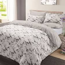 Buy Marble Edge Duvet Cover Bedding Set Grey Double from our