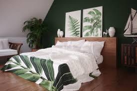 schlafzimmer idee dachgeschoss schlafzimmer mit grüner wand