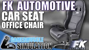 Playseat Office Chair White by Fk Automotive Car Seat Office Chair Review Gamermuscle