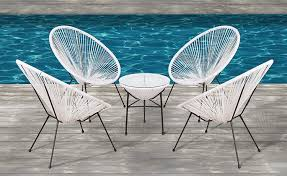 Acapulco Chair, All-Weather Wicker Indoor/Outdoor Round Lounge Chair Set By  Modern Century Outdoor [ CM-0114] (5 Piece, White) Details About Set Of 2 Allweather Oval Weave Lounge Patio Acapulco Papasan Chair Orange Black Resortgrade Chairs The Cheap Replica Designer Indoor Outdoor In Grey White On Frame Amazoncom With Fire Pit Chair 3d Model Items 3dexport Add Zest To Any Space Part Iii Sun Blue Brand New Pieces Red Egg Chair Modern Pearshaped Retro Adult