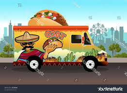 100 Mexican Food Truck Best Stock Vector Illustration Of Taco Library
