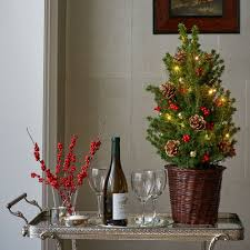Tabletop Live Christmas Trees by Classic Tabletop Tree With Lights White Flower Farm