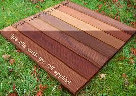 ipe oil natural wood deck finish west wind hardwood