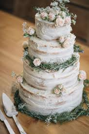Rustic Buttercream Cake Flowers Naked Wild Outdoors