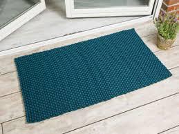 details zu pad outdoor teppich uni petrol 72x132 matte fussmatte pad concept badematte blau