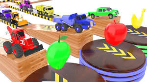 3D Videos For Kids Trucks Color Changing For Children | Learn Color ...