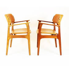 Brown Leather Dining Room Chairs Mid Century Model 49 Dining Chairs