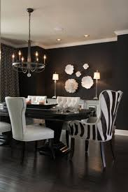 Best 25 Black Dining Rooms Ideas On Pinterest Dark Pertaining To And White