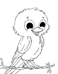 Image Cute Bird Coloring Pages 32 About Remodel For Kids With