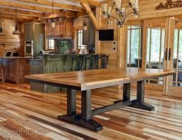 Wormy Chestnut Dining Table Made In The USA With Reclaimed Antique Wood