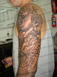 Angels And Clouds Tattoos For Men 21 Full Sleeve Religious