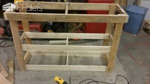 Pallet Television Stand Entertainment Center TV Rack