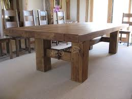 Enchanting Large Rustic Dining Room Tables 13 In Furniture With