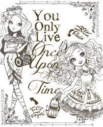 Ever After High Coloring Pages Throughout