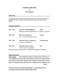 Best Cv Objectives Good Resume Objective New Job Epic