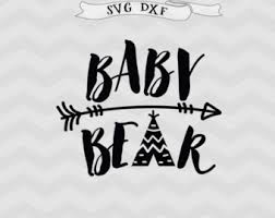 Baby Bear SVG Teepee Svg Arrow Kids Clipart Tee Pee Cut File Cricut Files For Silhouette Studio Downloads