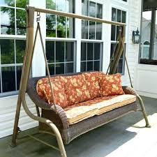 Porch Swing Cushions Canada Interior Wicker Patio With Stand